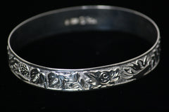 Sterling Silver Hawaiian Bracelet-12mm