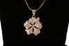 Sterling Silver Hibiscus with CZ stamen Necklace