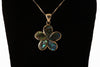 Sterling Silver Plumeria Abalone Necklace