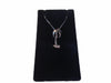 14K White Gold Palm Tree Necklace and Earring Set