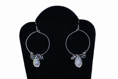 Cowry and Pyrene Shell Dangling Earrings