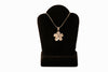 Sterling Silver White Plumeria Necklace-Medium