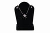 Sterling Silver Starfish Necklace and Earring Set