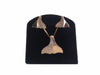 14K Gold Whale Tail Necklace and Earring Set