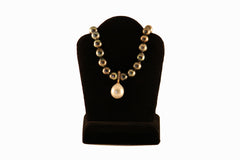 Tahitian Pearl Necklace with White Pearl Pendant