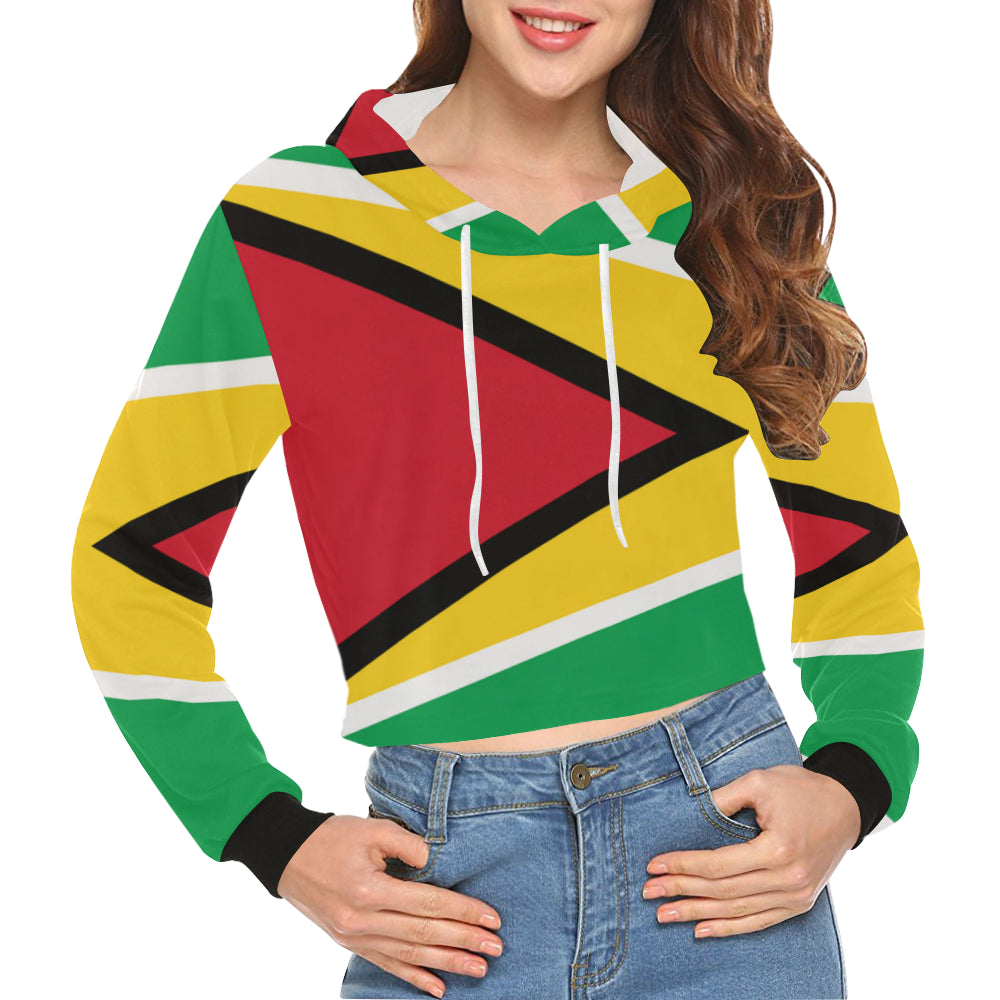 Guyana Born Crop Hoodie for Women