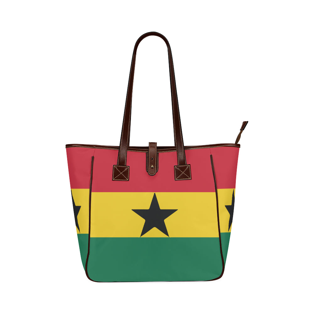 Ghana Born Square Classic Tote Bag (Model 1644)