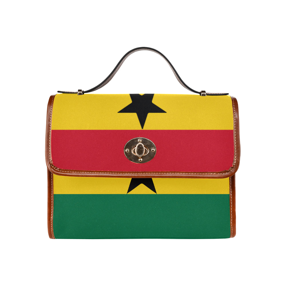 Ghana Born Waterproof Canvas Bag