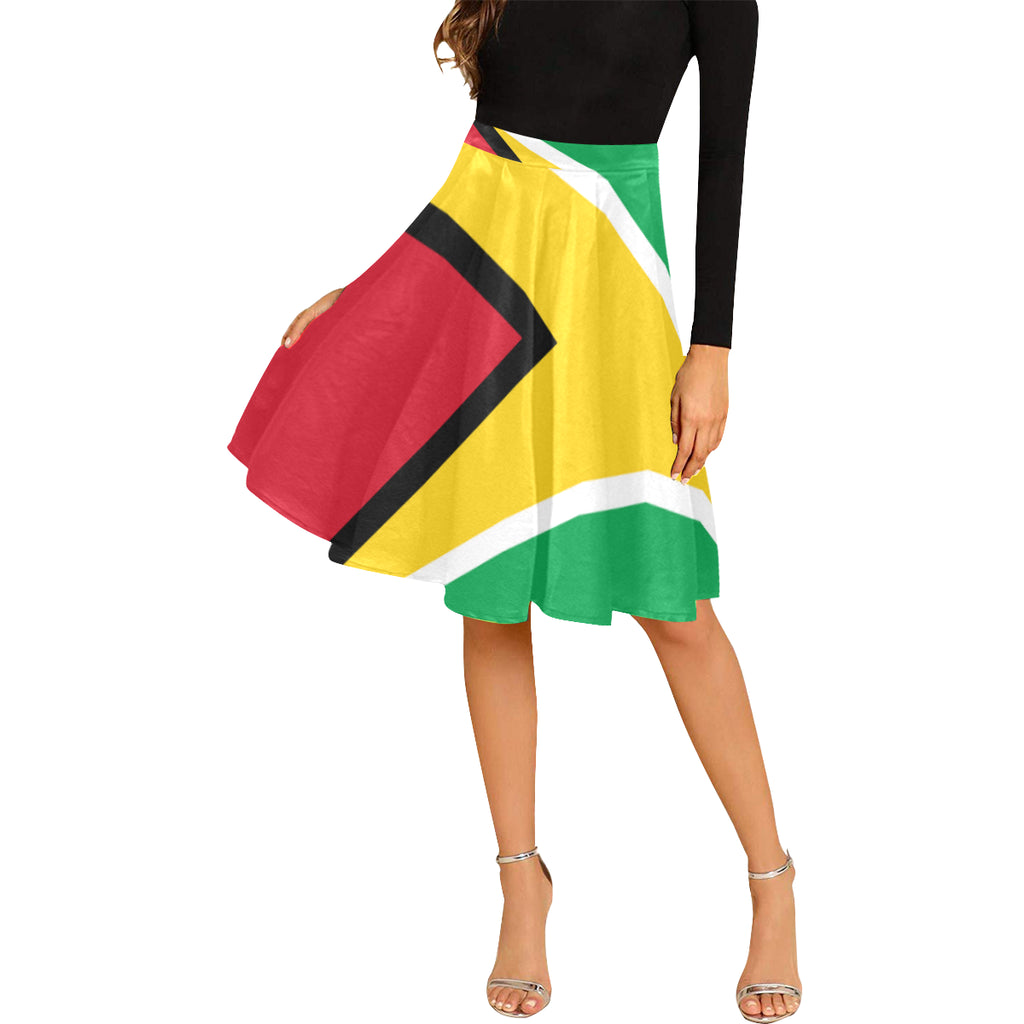 Guyana Born Melete Pleated Midi Skirt