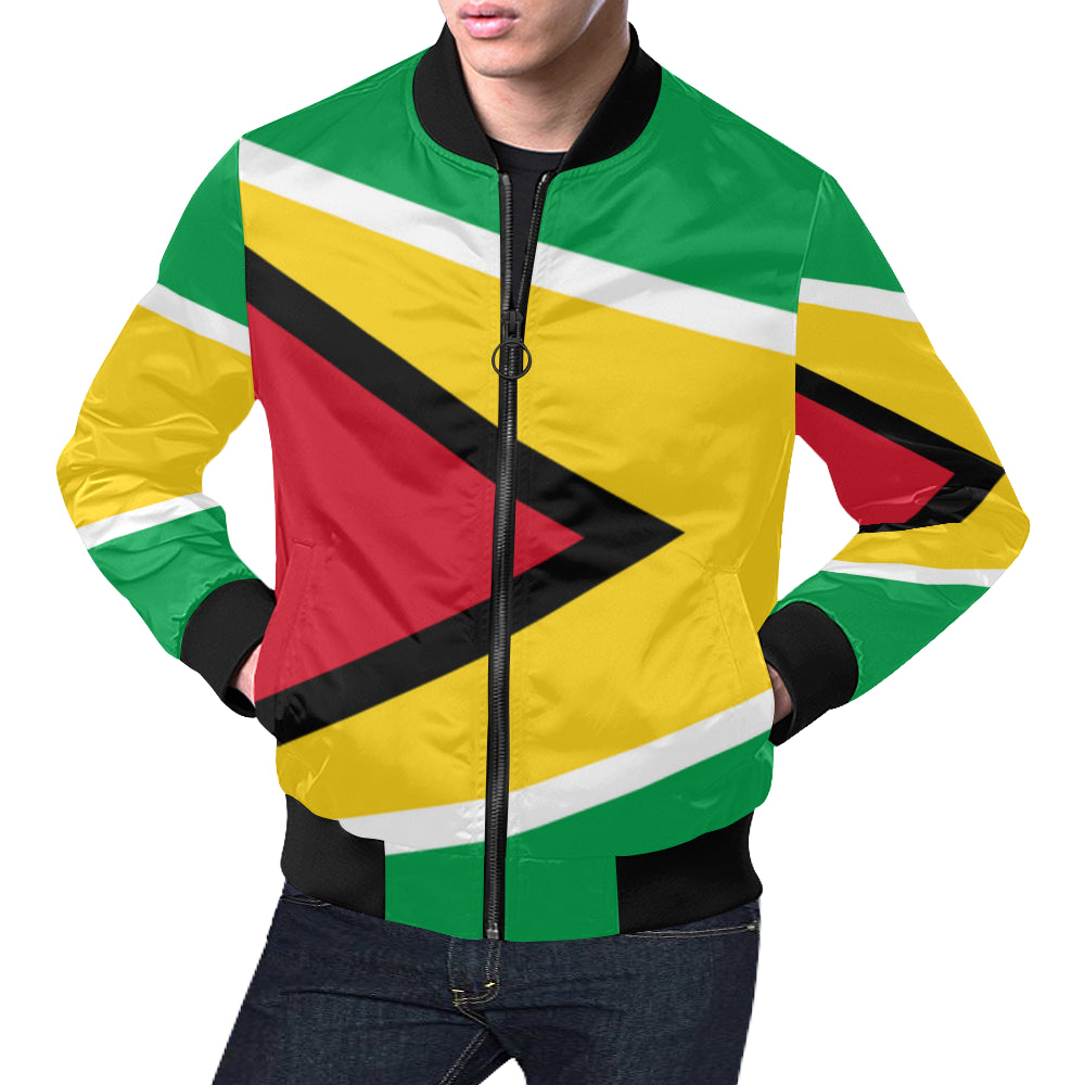 Guyana Born Big  Bomber Jacket for Men/Large Size