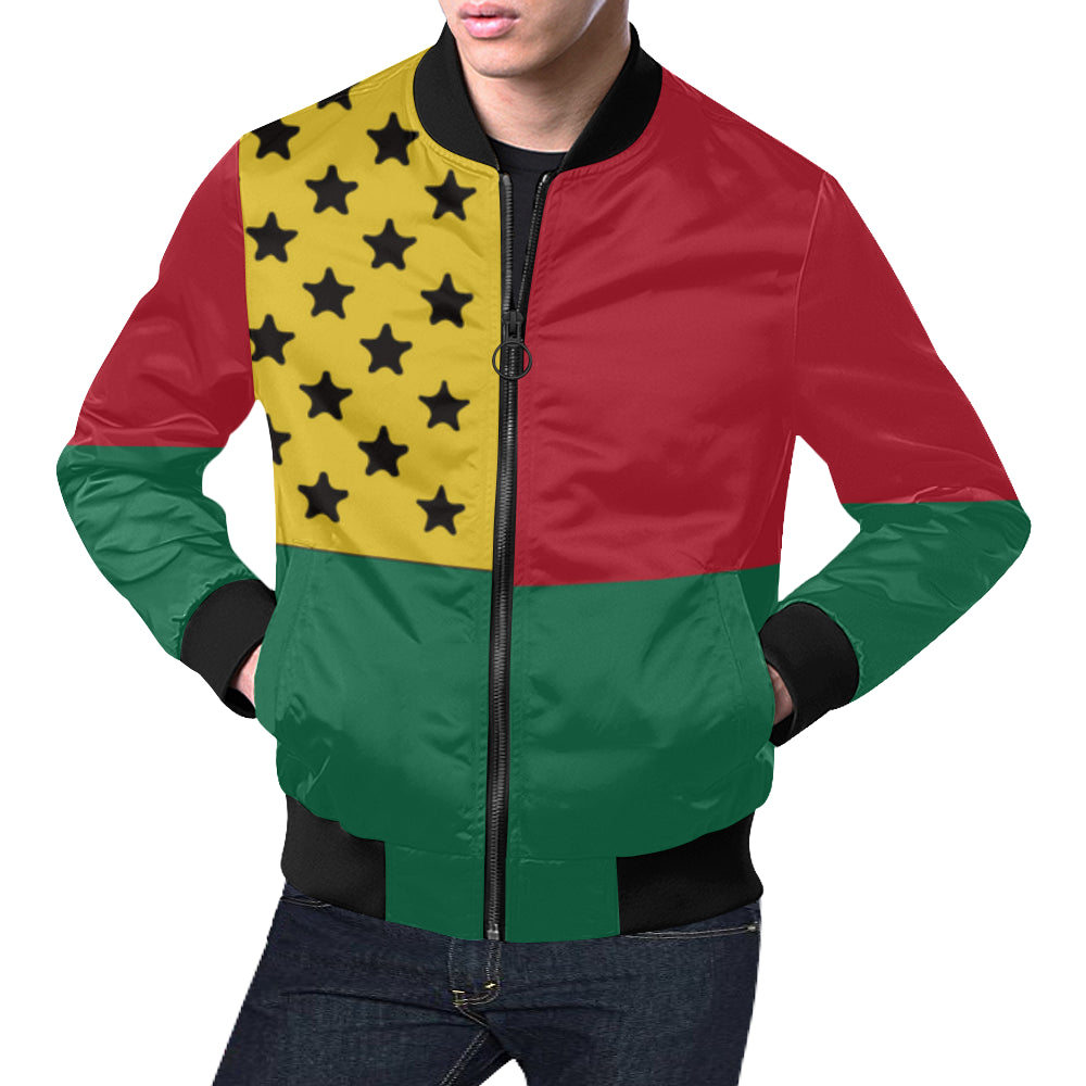 Ghana Bred Black Star Men's Bomber