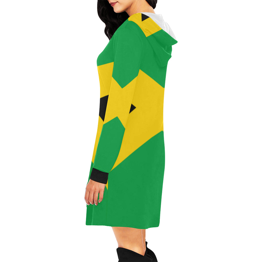 Jamaica Born Hoodie Mini Dress