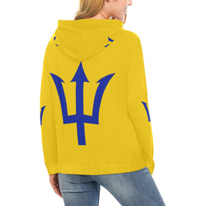 Barbados Bred Blue Fork All Over Print Hoodie (for Women)