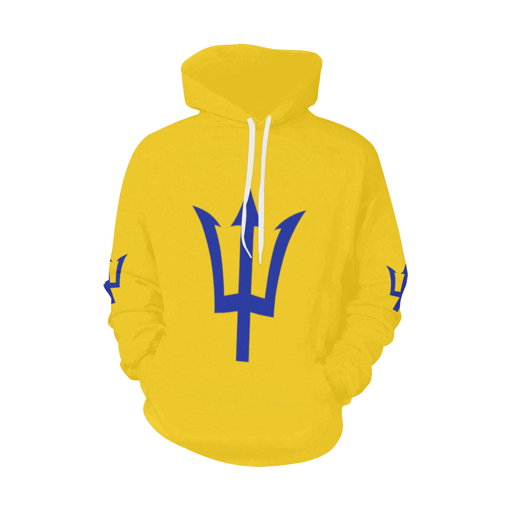 Barbados_Large_Flag (1) All Over Print Hoodie (for Men)