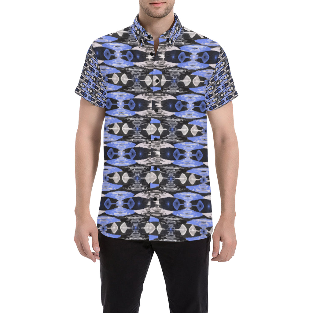 Zulu Blue Men's Short Sleeve Button Down