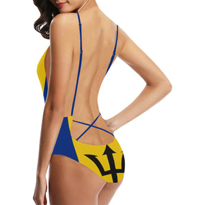Barbados Born Strip Sexy Lacing Backless One-Piece Swimsuit (Model S10)