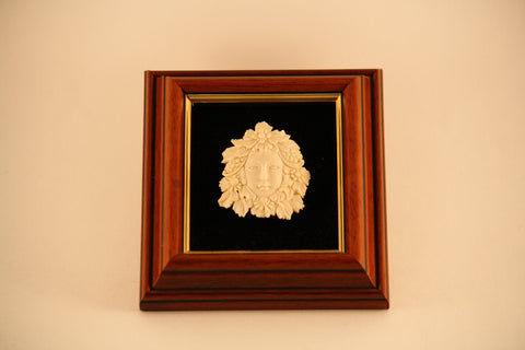 Shadow Box of Woman's Head with Flowers