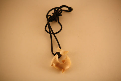 Fossil Walrus Ivory Hook Necklace