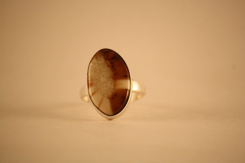 Pat Rader Ring: Sterling Silver and Fossilized Walrus Ivory