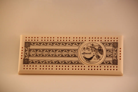 Cribbage Game with Hawaiian Island Carving