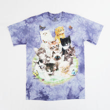 Load image into Gallery viewer, The Mountain 10 Kittens Tie Dye T-shirt - Purple