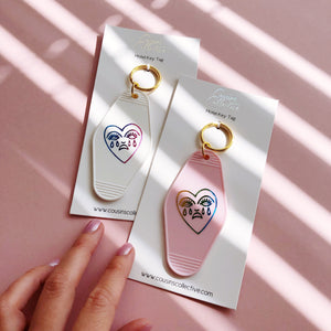 Crying Heart ♡ Hopeless Romantic Motel Keytag