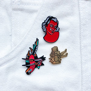 Queen Of Hearts Pin x Darren Quinn
