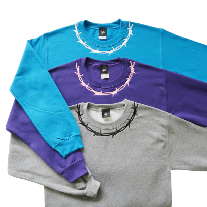 Barbed Wire Embroidered Colour Sweater