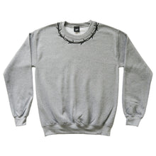 Load image into Gallery viewer, Barbed Wire Embroidered Sweater - GREY