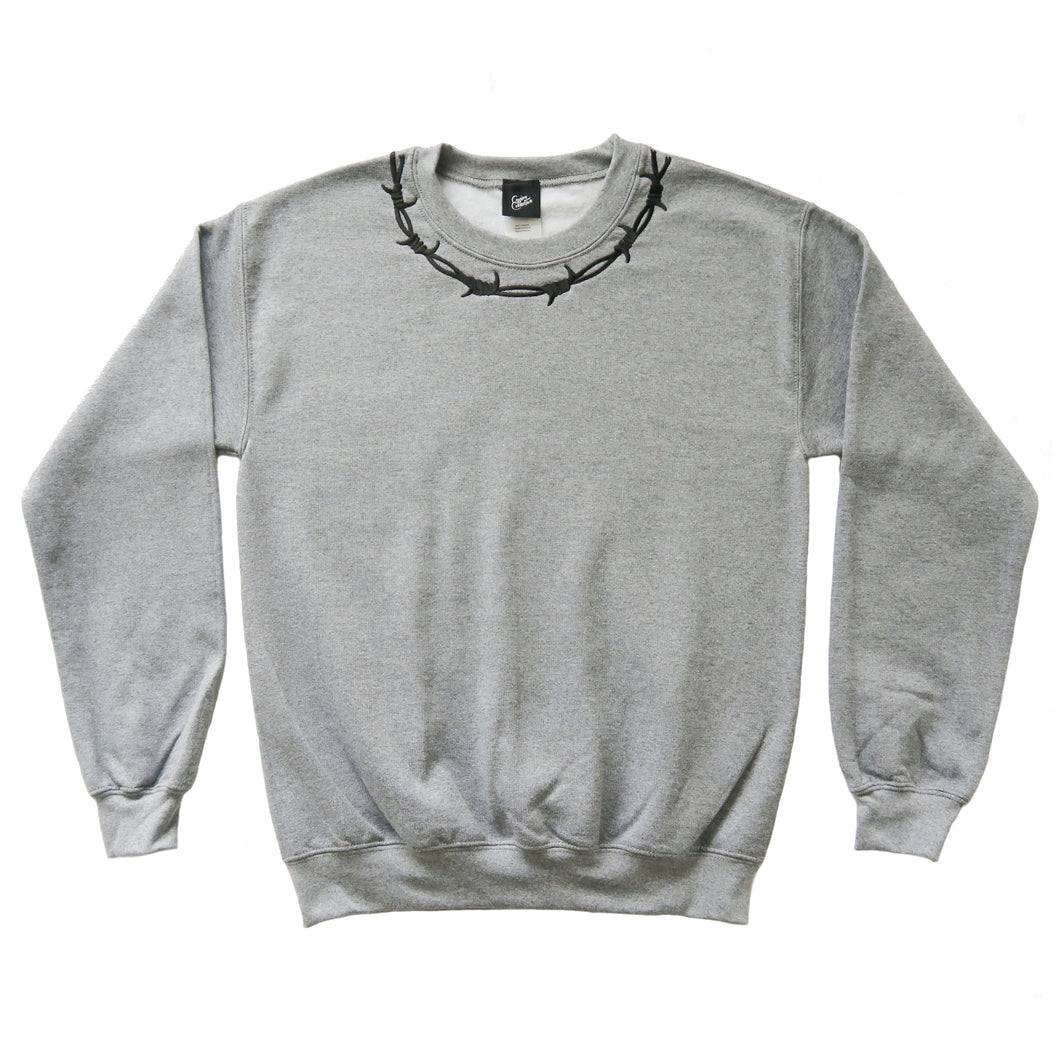 Barbed Wire Embroidered Colour Sweater - MADE TO ORDER
