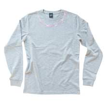 Load image into Gallery viewer, Barbed Wire Embroidered Long Sleeve T-shirt - MADE TO ORDER