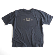 Load image into Gallery viewer, Swallowtail Embroidered T-shirt - India Ink Grey