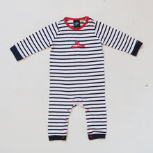 Load image into Gallery viewer, No Thanks Striped Baby Bodysuit