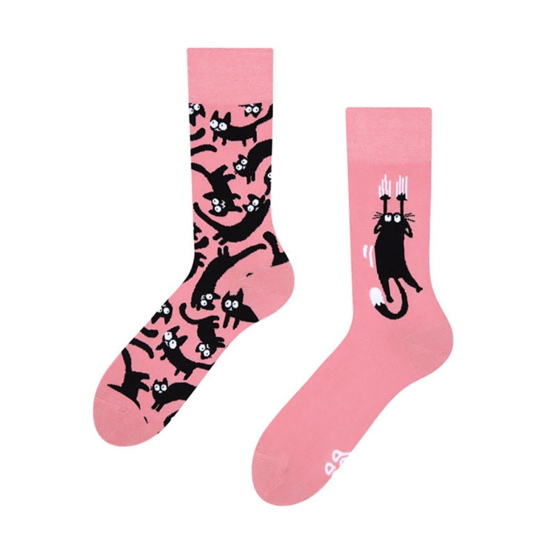 Good Mood Pink Cats Socks