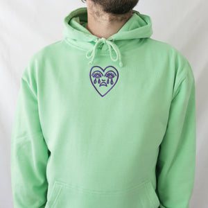 Crying Heart Embroidered Hoodie - MADE TO ORDER