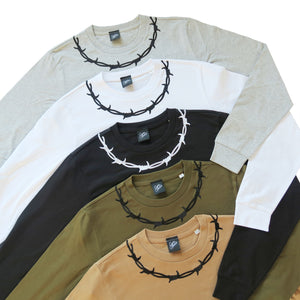 Barbed Wire Embroidered Long Sleeve T-shirt