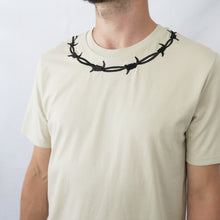 Load image into Gallery viewer, Barbed Wire Summer Colours Embroidered T-shirt