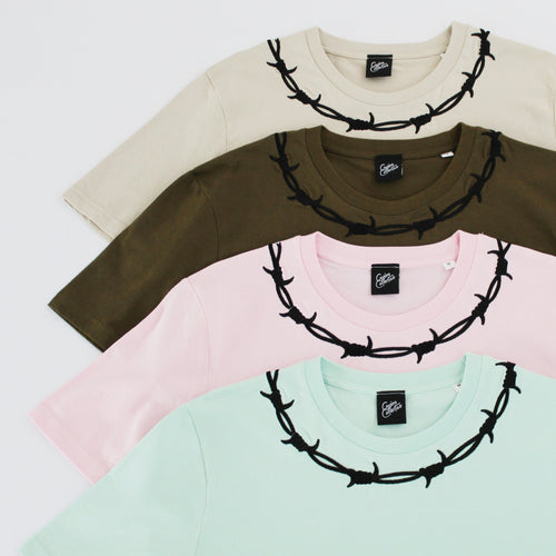 Barbed Wire Summer Colours Embroidered T-shirt