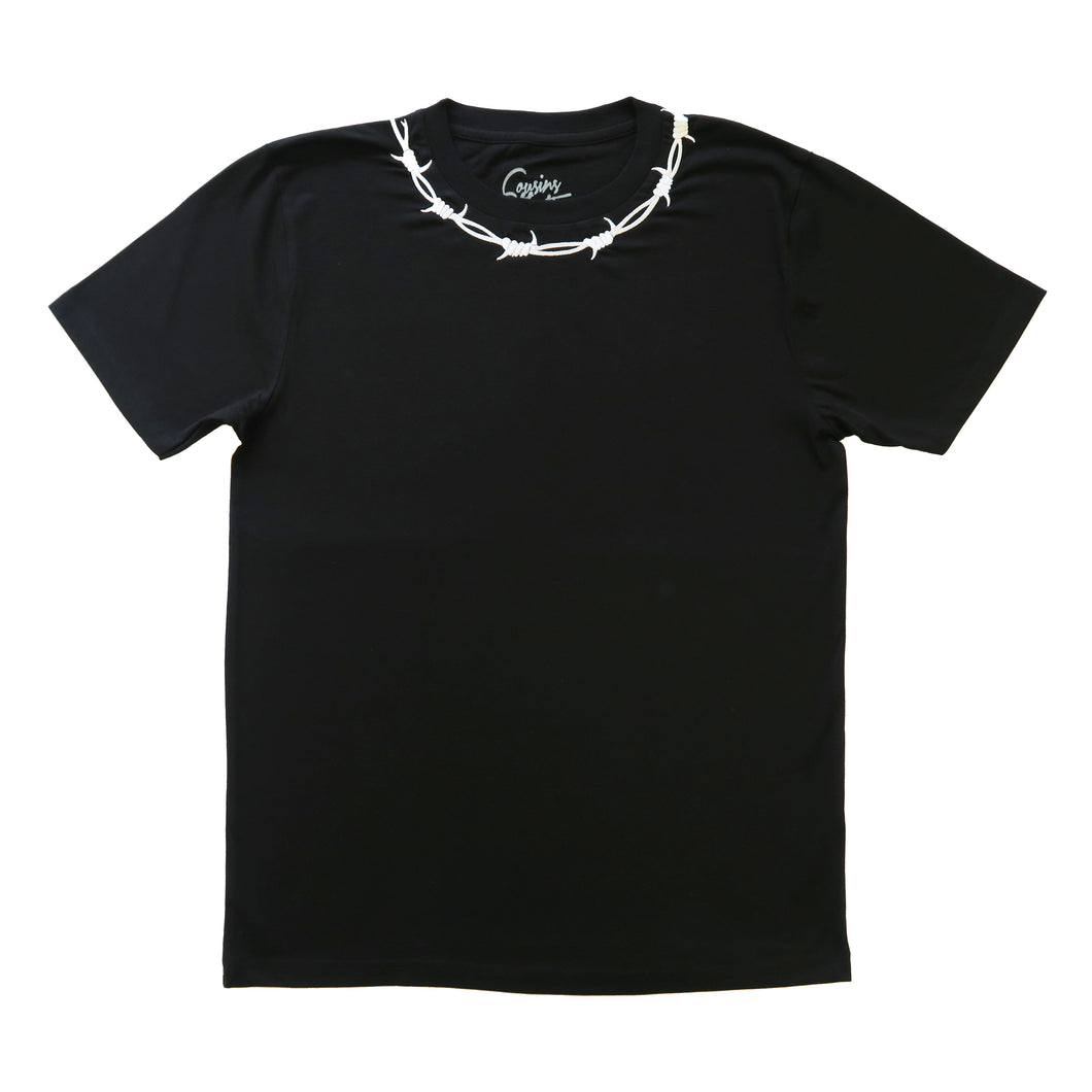 Barbed Wire Embroidered Short Sleeve T-shirt