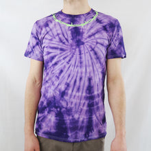 Load image into Gallery viewer, Barbed Wire Embroidered Tie Dye T-shirt - MADE TO ORDER