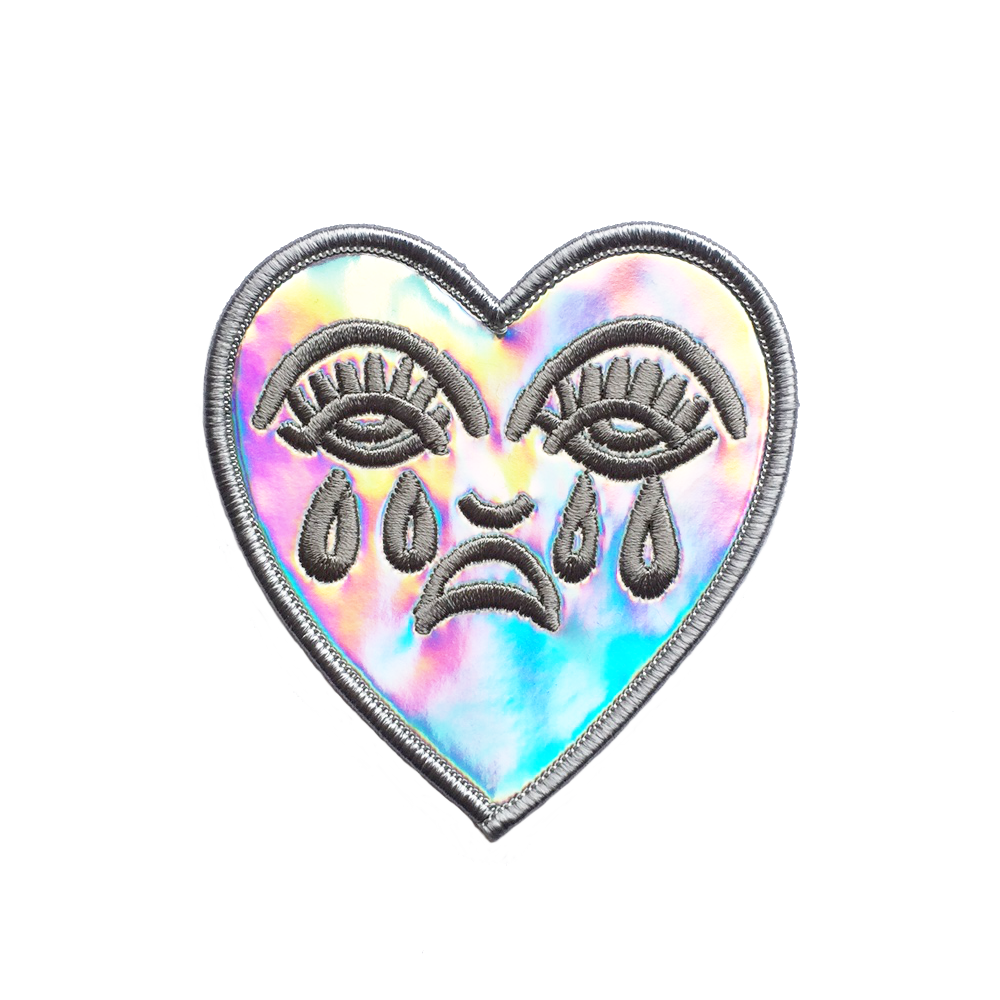 Crying Heart Holographic Patch
