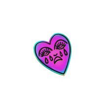 Load image into Gallery viewer, Crying Heart Pin - Rainbow