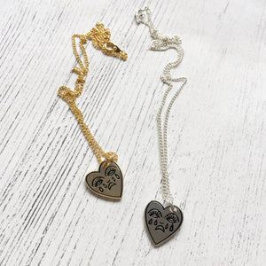 Crying Heart Charm Necklace