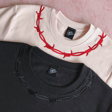 Load image into Gallery viewer, Barbed Wire Embroidered Sweater