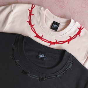 Barbed Wire Embroidered Sweater