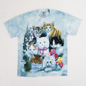 The Mountain Kittens Tie Dye T-shirt - Blue