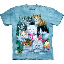 Load image into Gallery viewer, The Mountain Kittens Tie Dye T-shirt - Blue
