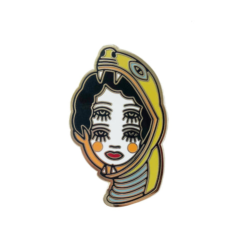 Four-eyed Snake Girl Pin x Lola Blackheart