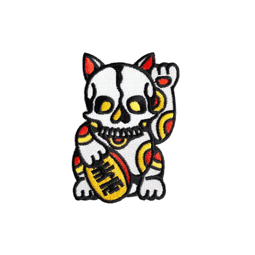 Lucky Skull Cat Patch x Ash Price