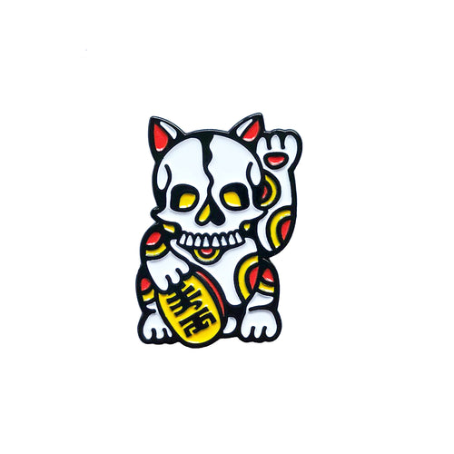 Lucky Skull Cat Pin x Ash Price
